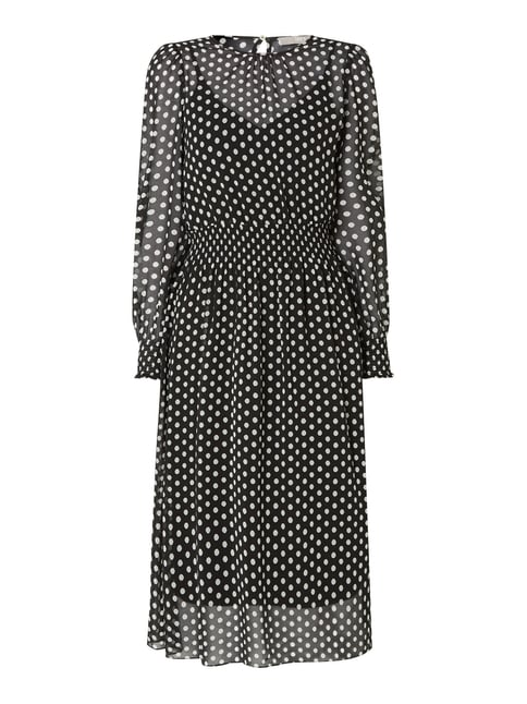 ad84134c31d9 Jake s Collection Kleid mit Polka Dots Grau   Schwarz - 1 ...