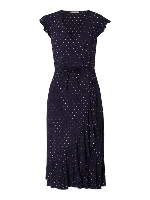 a668467e989 Jake s Collection Kleid mit Punktemuster und Taillenband Blau   Türkis - 1  ...