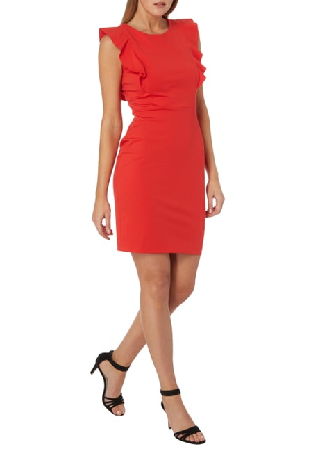Jake*s Collection Kleid mit Volantbesatz in Rot - 1