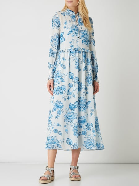 JAKE*S COLLECTION Maxikleid aus Chiffon  in Blau / Türkis online kaufen