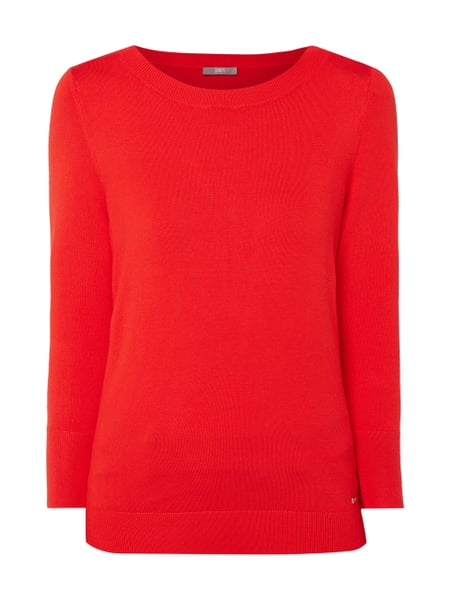 Jake*s Collection Pullover mit 7/8-Arm Rot - 1
