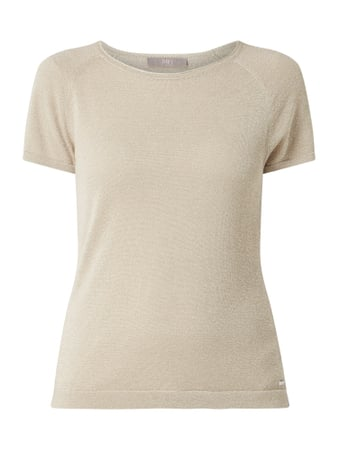 Jake*s Collection Pullover mit Effektgarn Beige - 1
