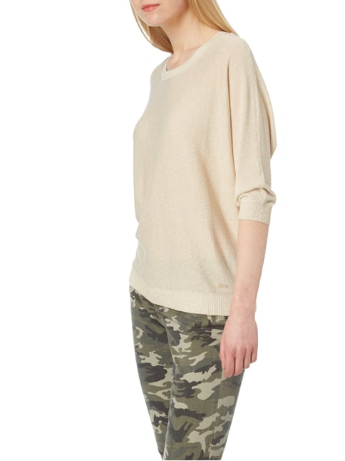 Jake*s Collection Pullover mit Effektgarn Sand - 1