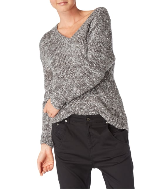 Jake*s Collection Pullover mit Pailletten-Besatz Graphit - 1