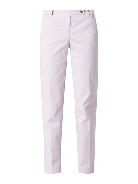 Jake*s Collection Stoffhose mit Stretch-Anteil in schmaler Passform Lila - 1