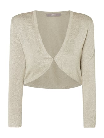 Jake*s Collection Strickbolero mit Effektgarn Beige - 1