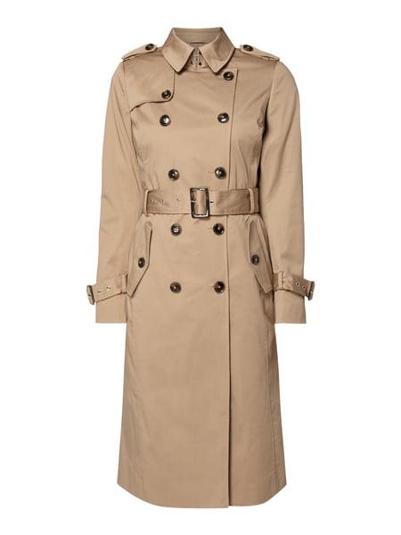 Jake*s Collection Trenchcoat aus Baumwoll-Elasthan-Mix Weiß - 1