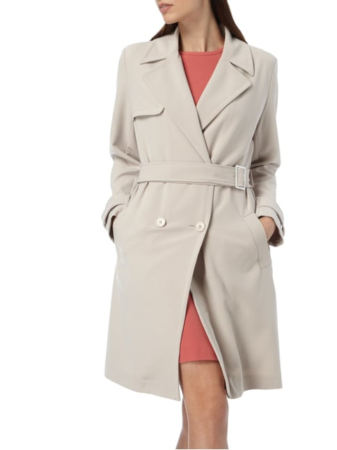 Jake*s Collection Trenchcoat mit 2-reihiger Knopfleiste Stein - 1