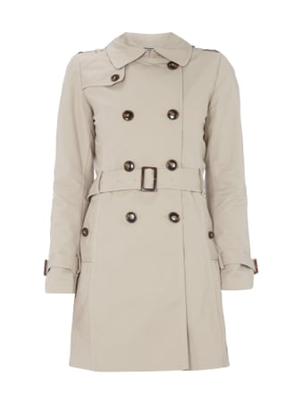 Jake*s Collection Trenchcoat mit Taillengürtel Braun - 1
