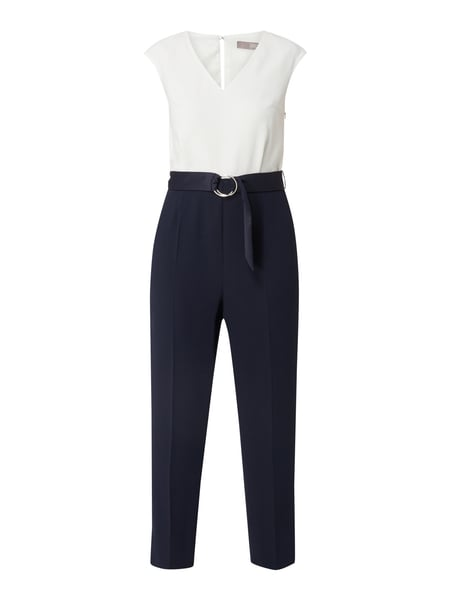 Jake*s Collection Two-Tone-Jumpsuit mit Taillengürtel Blau - 1
