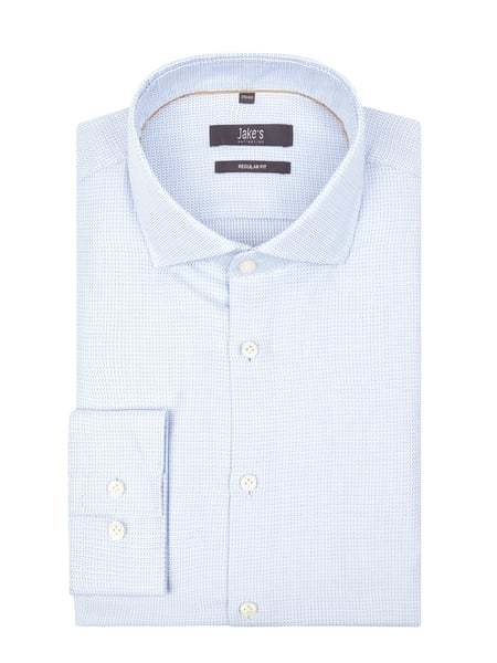Jake*s Men Regular Fit Business-Hemd aus Baumwolle Blau - 1
