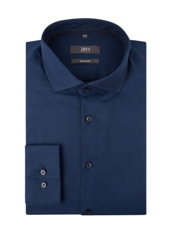 Jake*s Regular Fit Business-Hemd aus Baumwolle Blau - 1