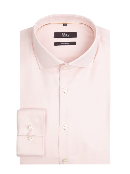 Jake*s Regular Fit Business-Hemd aus Twill Rosa - 1