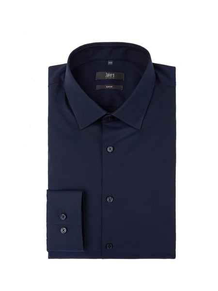 Jake*s Slim Fit Business-Hemd aus Baumwolle Blau / Türkis - 1