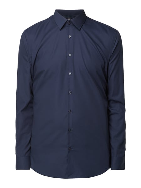 Jake*s Slim Fit Business-Hemd aus Baumwolle Marineblau