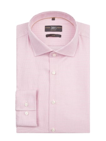 Jake*s Slim Fit Business-Hemd aus Baumwolle Rosa - 1