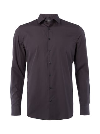 Slim Fit Business-Hemd mit Kentkragen Grau / Schwarz - 1