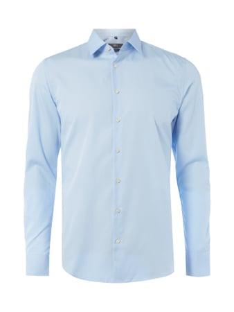 Jake*s Slim Fit Business-Hemd mit Kentkragen Blau / Türkis - 1