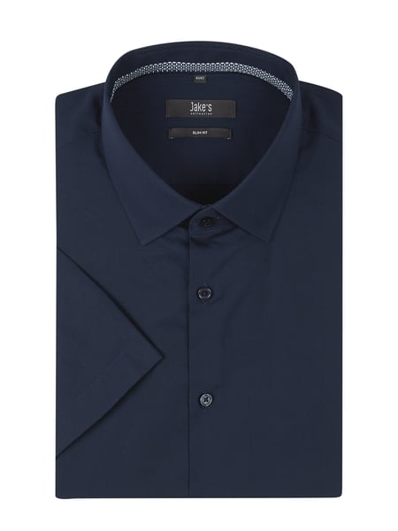 Jake*s Slim Fit Business-Hemd aus Popeline Blau - 1