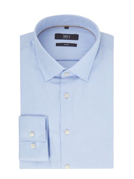 Jake*s Slim Fit Business-Hemd aus Twill Blau - 1