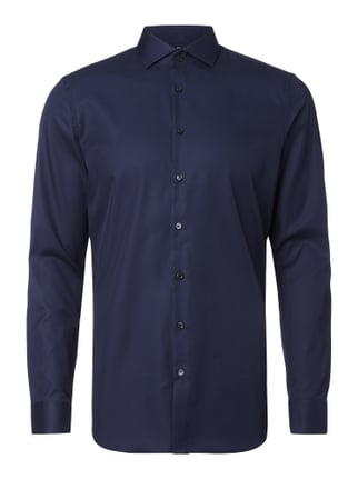 Slim Fit Business-Hemd aus Twill Blau / Türkis - 1