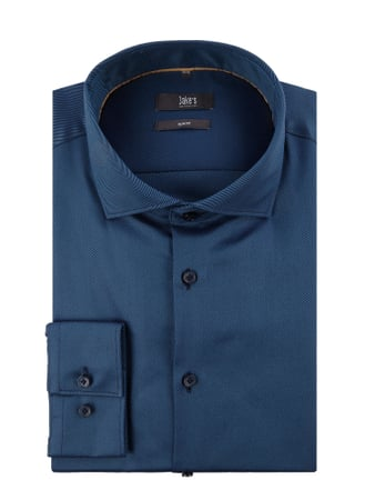 Jake*s Slim Fit Business-Hemd mit extralangem Arm Blau / Türkis - 1