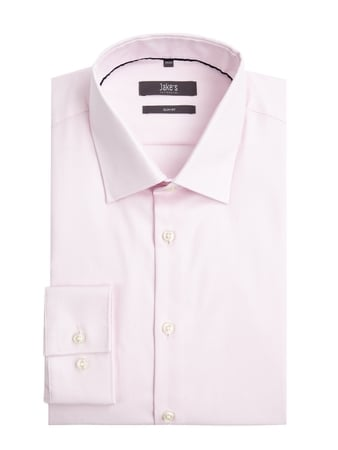 Jake*s Slim Fit Business-Hemd aus Twill Rosa - 1
