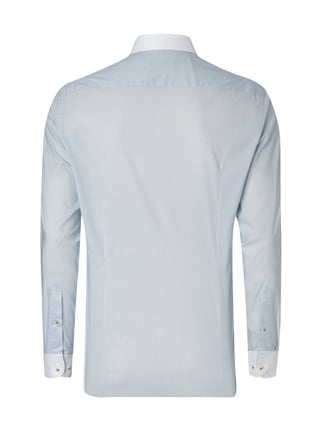 Jake*s Slim Fit Business-Hemd mit Allover-Muster Bleu - 1