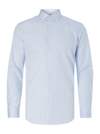 Slim Fit Business-Hemd mit Button-Down-Kragen Blau / Türkis - 1