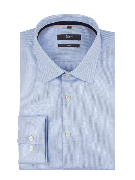 Jake*s Slim Fit Business-Hemd mit extralangem Arm Blau - 1