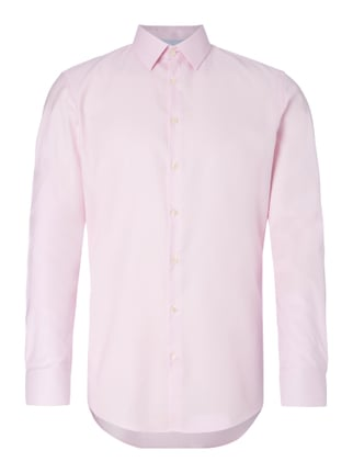 Slim Fit Business-Hemd mit feiner Webstruktur Rosé - 1