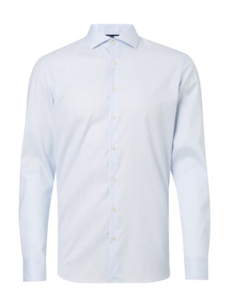 Slim Fit Business-Hemd mit Gitterkaro Blau / Türkis - 1