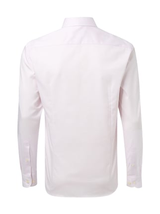 Jake*s Slim Fit Business-Hemd mit Gitterkaro Rosa - 1