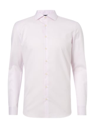 Slim Fit Business-Hemd mit Gitterkaro Rosé - 1