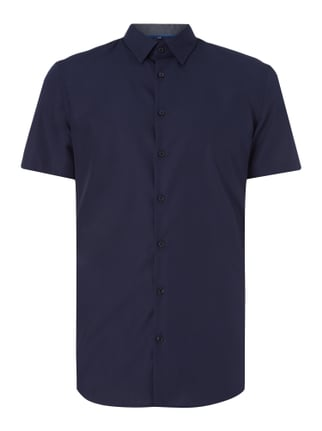 Slim Fit Business-Hemd mit kurzem Arm Blau / Türkis - 1