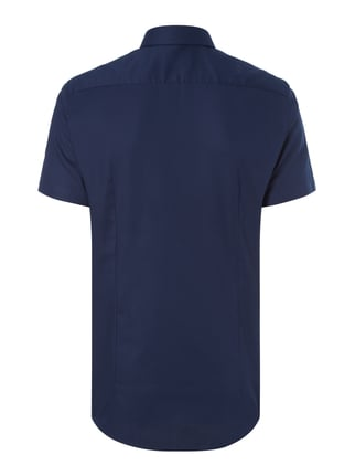 Jake*s Slim Fit Business-Hemd mit kurzem Arm Marineblau - 1