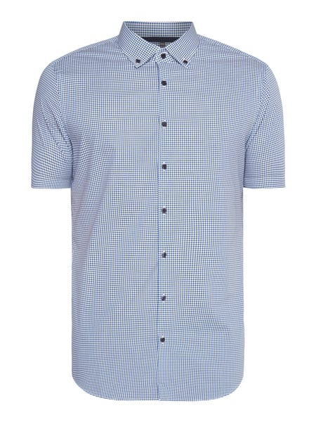 Jake*s Slim Fit Business-Hemd mit kurzem Arm Blau / Türkis - 1