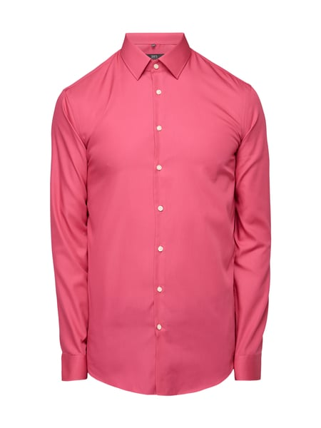 Jake*s Slim Fit Business-Hemd mit New Kent Kragen Pink