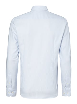 Jake*s Slim Fit Business-Hemd mit Streifenmuster Bleu - 1