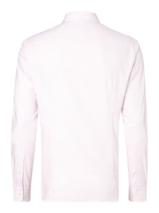 Jake*s Slim Fit Business-Hemd mit Streifenmuster Rosa - 1