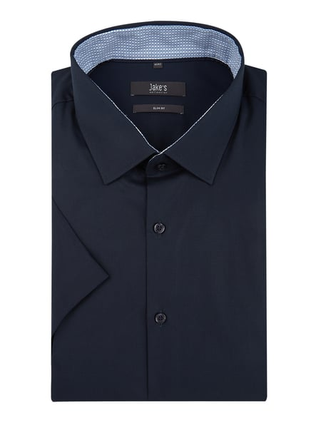 Jake*s Slim Fit Business-Hemd mit Stretch-Anteil Blau - 1