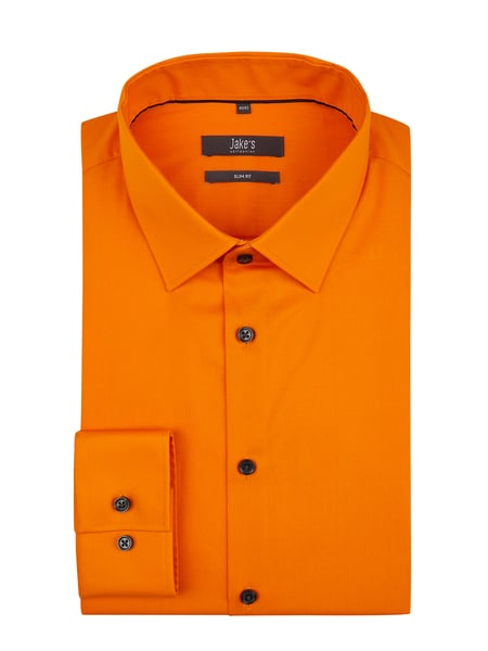 Jake*s Slim Fit Business-Hemd mit Stretch-Anteil Orange - 1