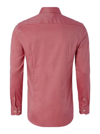 Jake*s Slim Fit Business-Hemd mit Webstruktur Pink - 1