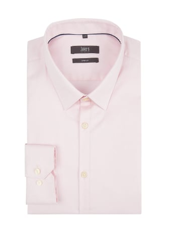 Jake*s Super Slim Fit Business-Hemd aus Twill Rosa - 1