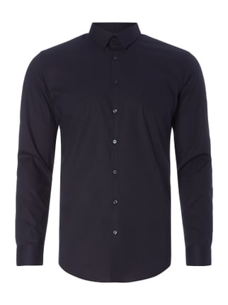 Super Slim Fit Business-Hemd mit New Kent Kragen Blau / Türkis - 1