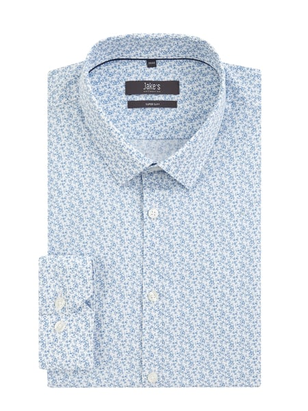 Jake*s Super Slim Fit Business-Hemd mit Stretch-Anteil Blau - 1