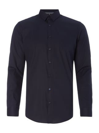 Super Slim Fit Business-Hemd mit Stretch-Anteil Blau / Türkis - 1