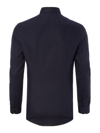 Jake*s Super Slim Fit Business-Hemd mit Stretch-Anteil Marineblau - 1