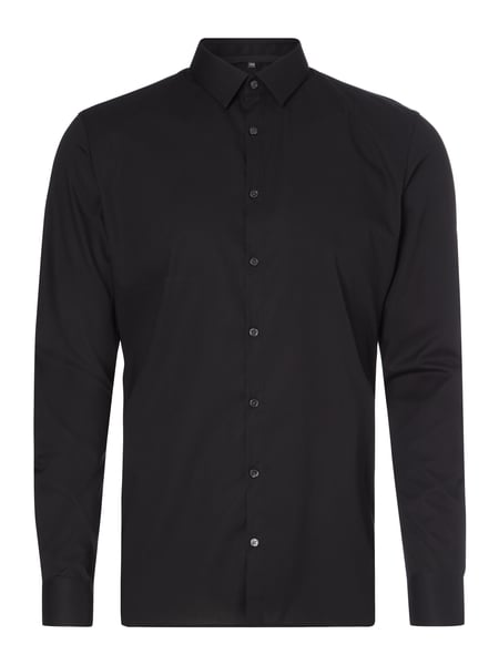Super Slim Fit Business-Hemd mit Stretch-Anteil Grau / Schwarz - 1