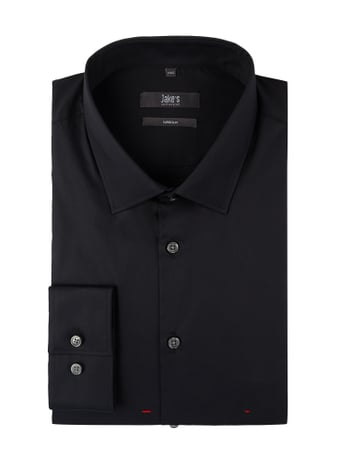 Jake*s Super Slim Fit Business-Hemd mit Stretch-Anteil Grau / Schwarz - 1